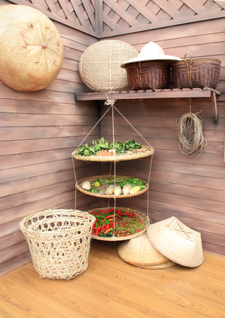 Materials, equipment and storage of agricultural products, traditional Thailand.