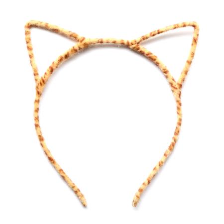 Headband  cat stylel on white background photo