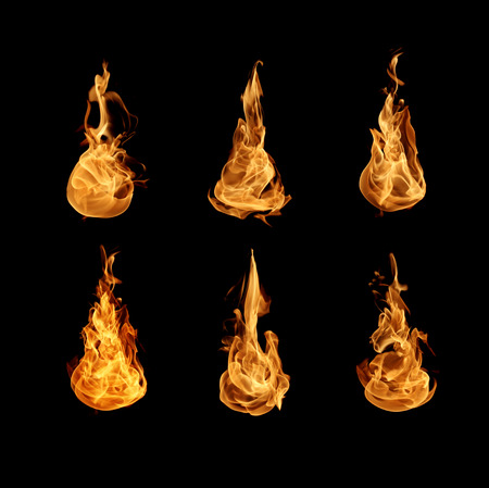 conflagration: Flame collection Stock Photo