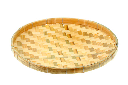 threshing: Thai threshing basket, use in thai kitchen isolated on white Stock Photo