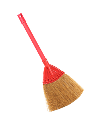 rea: rea broom on white background
