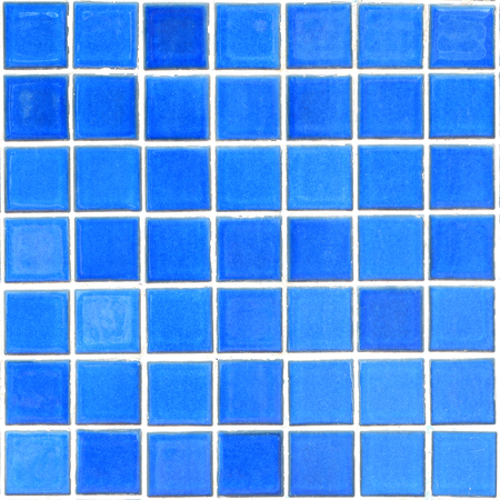 blue mosaic tiles texture with white filling photo