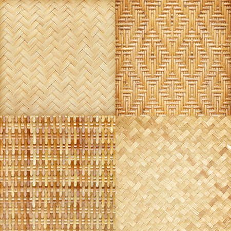 Wicker and bamboo woven texture Background photo