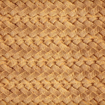 woven: Brown leather woven  Stock Photo