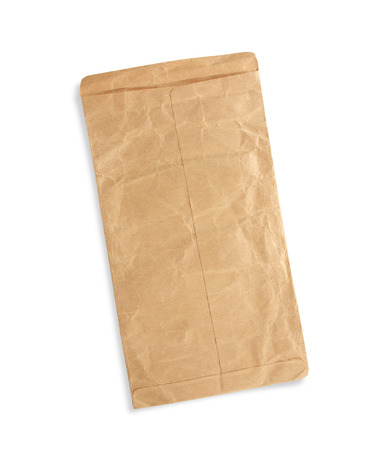 old envelope: old envelope isolated on white background Stock Photo