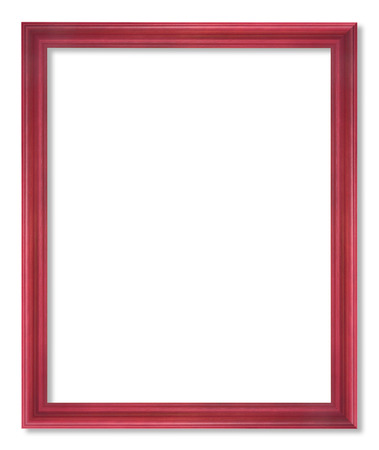 red picture frame isolated on white photo
