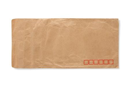 old envelope: old envelope on a white background