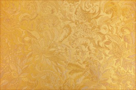 golden: Golden floral ornament brocade textile pattern