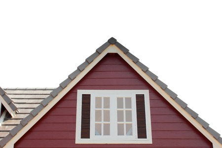 dormitories: gable of the house isolated ob white background
