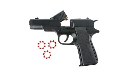Replica gun isolated on white photo