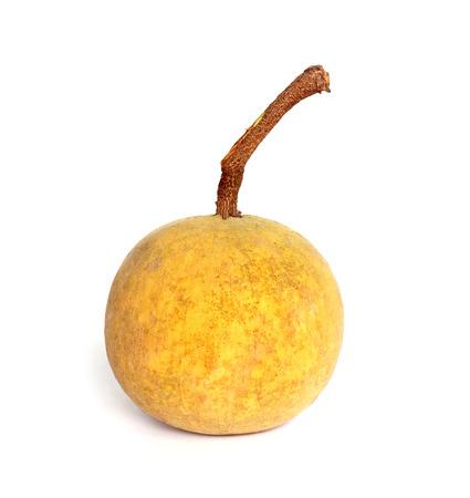 hemispherical: Santol fruit isolated on white background