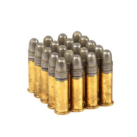 bullets on white background photo