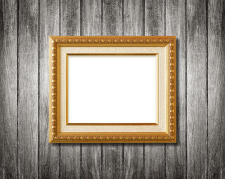 cadre antique: cadre antique sur le mur en bois Banque d'images