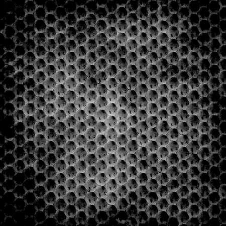 Hexagon black grunge background photo