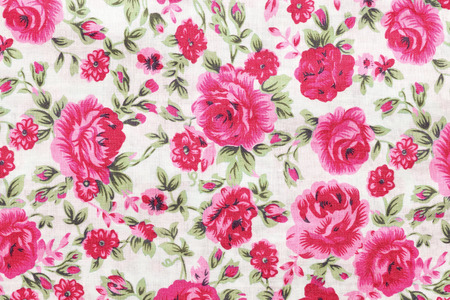 sateen: Rose bouquet design Seamless pattern on fabric as background