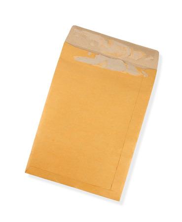 old envelope: Old envelope isolated on white background