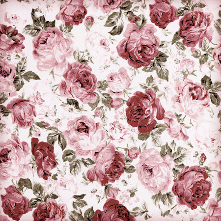 red roses: Rose Fabric background,vintage colour effect