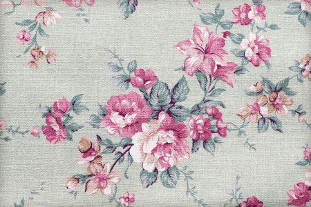 sateen: flower bouquet design Seamless pattern on fabric as background