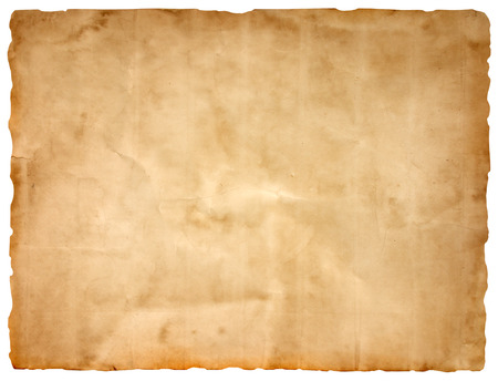 ancient scroll: sheet of old paper isolated on a white background