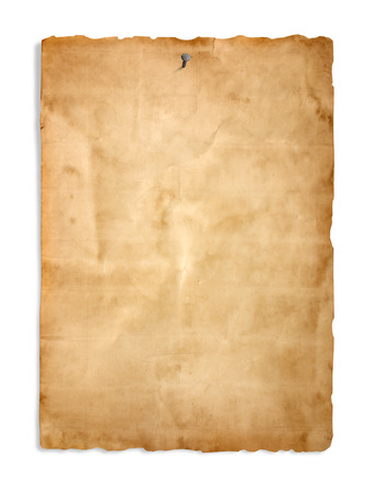 blank poster: Old paper on the white background