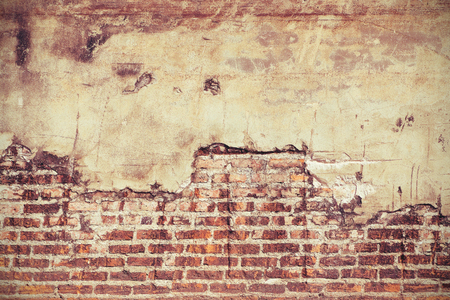 color effect: Old grunge brick wall color effect for background