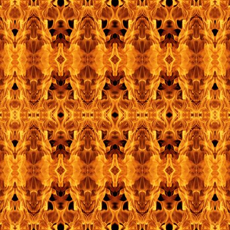 flamed: Abstract fire flames seamless pattern background