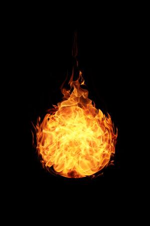 검은 배경에 추상 볼 화재 불길