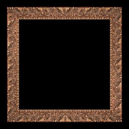 cadre antique: ancienne cadre antique de craquage isol� sur noir