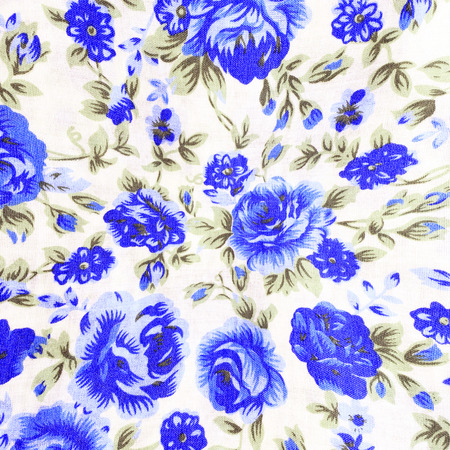 textile design: Rose bouquet design Seamless pattern on fabric as background