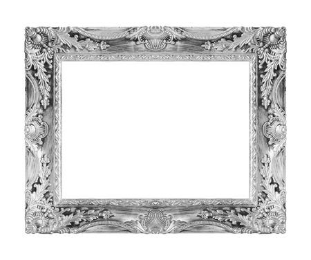 cadre antique: cadre antique isol� fond blanc.