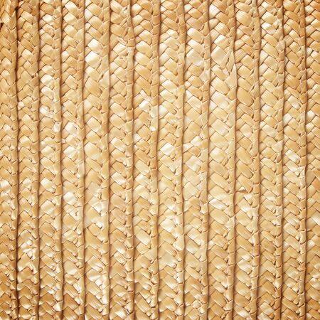 Woven straw background photo