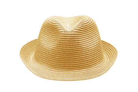 aging american: Straw Hat Isolated on White Stock Photo