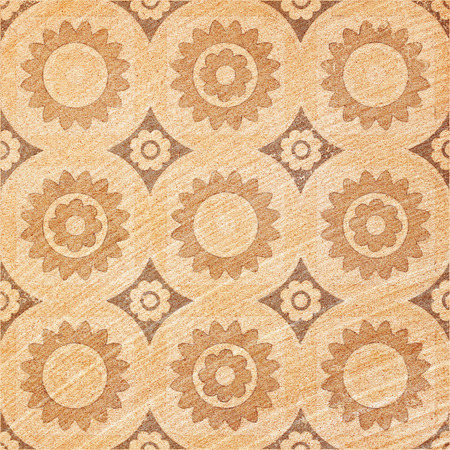 Decorative brown sand stone tile background photo