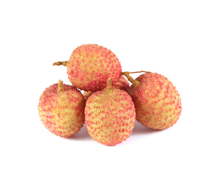 litschi: lychee on white background Stock Photo