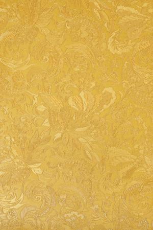 황금 꽃 장식 방직 섬유 패턴