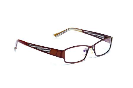 brown eye: Brown Eye Glasses Isolated on White