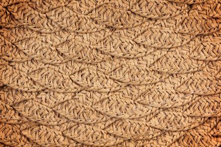 meshwork: woven straw wicker background texture Stock Photo