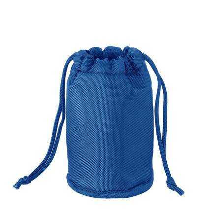 murk: blue bag isolated on white background Stock Photo