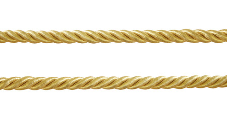 gold  rope isolated on white background 免版税图像