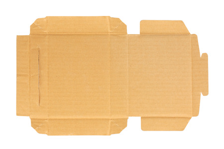 goffer: Cardboard box layout background