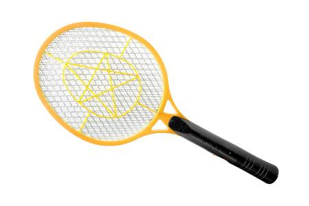fumigador: Asesino Electronic mosquitos aislados en fondo blanco