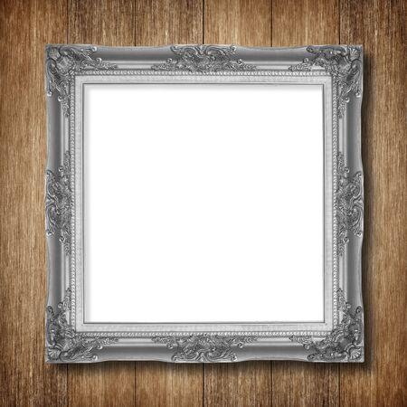 cadre antique: Antique frame sur bois fond mur