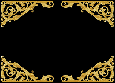 esquineros de flores: Elementos de adorno, dise�os florales de oro de �poca