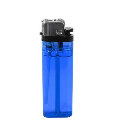 encendedores: encendedores azules aislados sobre fondo blanco