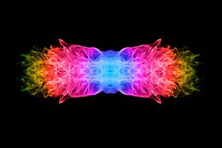 llamas de fuego: Llama del fuego abstracto con efectos de color sobre fondo negro