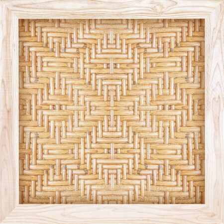 woven rattan with wooden frame natural patterns