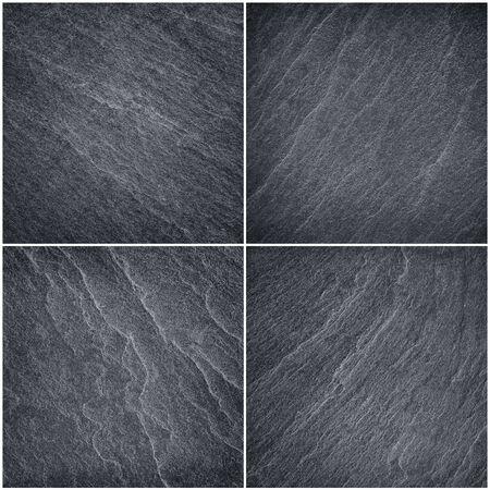 piso piedra: Dark grey black slate abstract background or texture. Foto de archivo