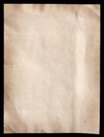 Oud bruin papier textuur op zwart Stockfoto