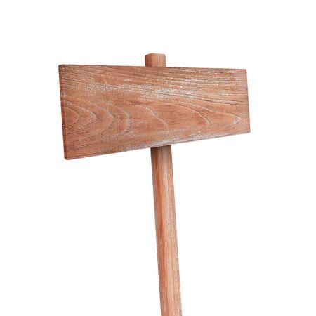 unbalanced: Wooden sign ,teak wood isolated on white