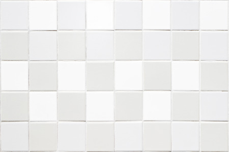 faience: White tile ceramic wall background